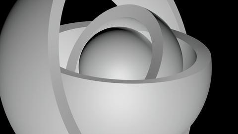 orbit shading ball Stock Video Footage