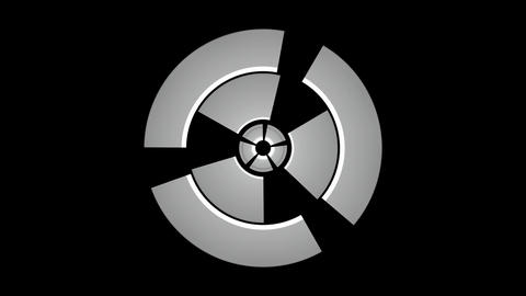 spinning machine matte Stock Video Footage