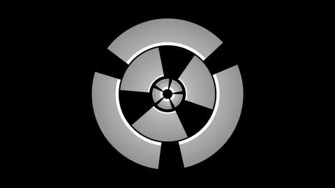 spinning machine matte Animation