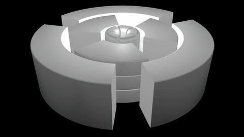 white glowing machine Stock Video Footage