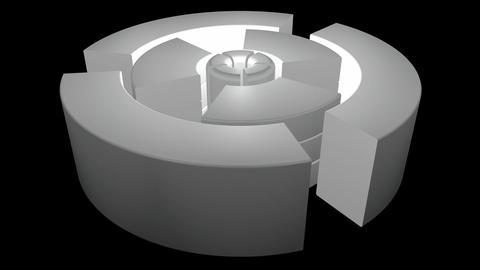 white glowing machine Animation