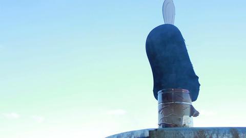 Vane Chimney Stock Video Footage