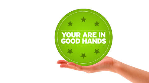 You are in good hands Stock Video Footage