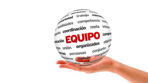 Team word sphere (In Spanish) Stock Video Footage
