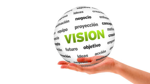 Vision word sphere (In Spanish) Stock Video Footage