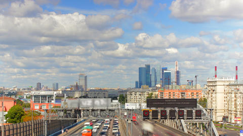 Moscow highway car time lapse Stock Video Footage