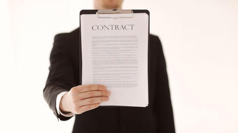man showing a contract Stock Video Footage