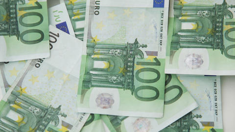 falling 100 euro money notes Stock Video Footage