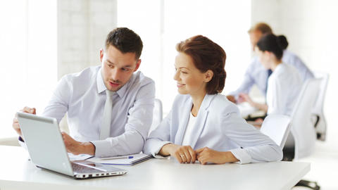 business people having a meeting Stock Video Footage