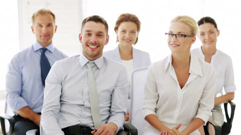 business people showing thumbs up Stock Video Footage