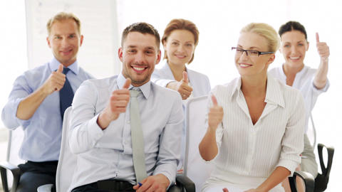 business people showing thumbs up Footage