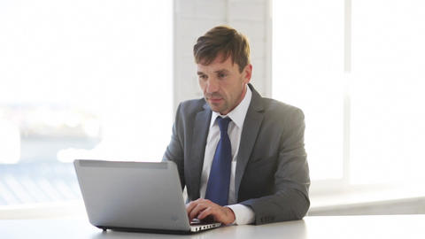 businessman working with laptop computer Stock Video Footage