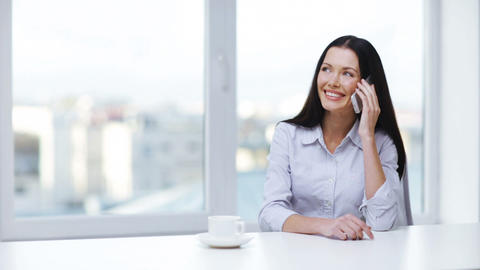 woman with cell phone making a call Stock Video Footage