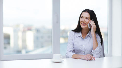 Woman With Cell Phone Making A Call stock footage