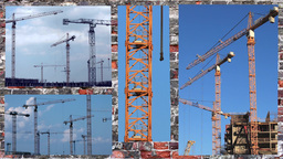 tower cranes Stock Video Footage