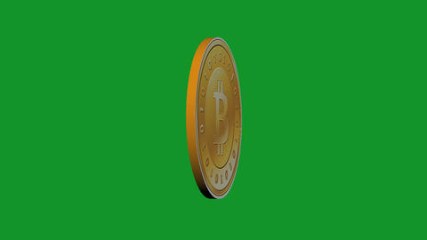Rotation of gold bitcoin coin,Virtual Currency Stock Video Footage