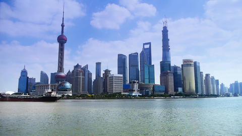 Shanghai China Asia,Lujiazui Financial Center,busy... Stock Video Footage