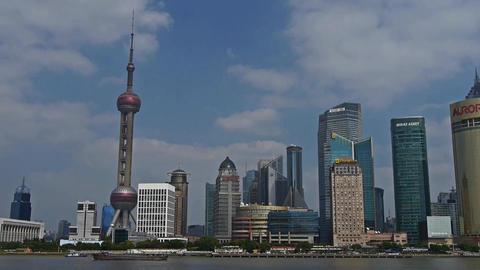 panoramic of Shanghai China,Lujiazui economic Center Stock Video Footage