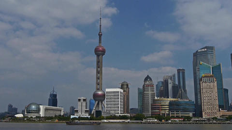 panoramic of Shanghai China,Lujiazui economic Center Stock Video Footage