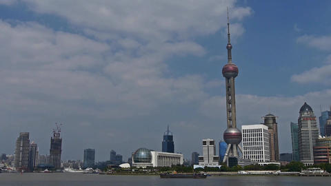 panoramic of Shanghai China,Lujiazui economic Center Animation