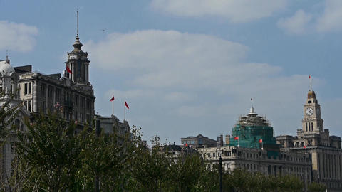 Shanghai Bund,huangpu river waterfront Stock Video Footage