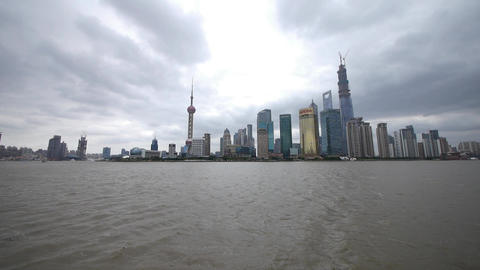time lapse Shanghai & flying cloud,Lujiazui economic... Stock Video Footage