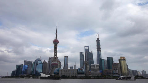 time lapse Shanghai skyline,pudong Lujiazui financial center Stock Video Footage