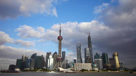 Shanghai skyline,pudong Lujiazui business center &... Stock Video Footage