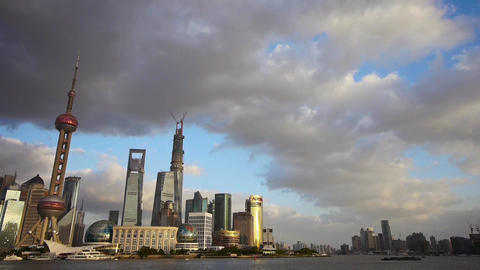 panoramic of Shanghai skyline,world urban business Centre... Stock Video Footage