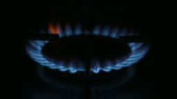 Gas Hob Flame Footage