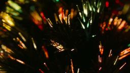 Close up multi color fiber optic Christmas Tree Li Footage