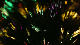 Close up multi color fiber optic Christmas Tree Li Stock Video Footage