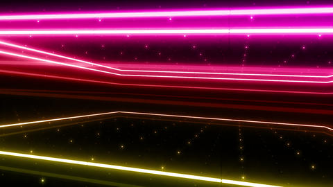 Neon tube R b A 4h HD Stock Video Footage