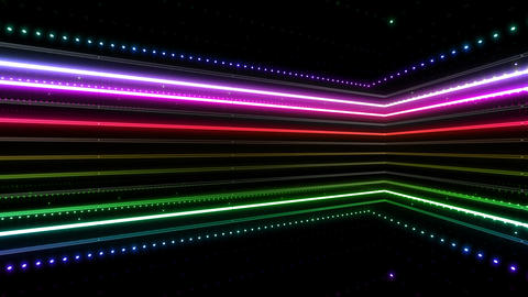 Neon tube R b B 4h HD Stock Video Footage