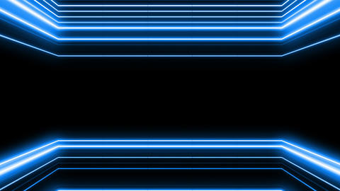 Neon tube R b E 4h HD Stock Video Footage