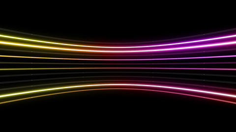 Neon tube R c B 4h HD Stock Video Footage