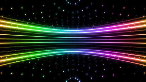 Neon tube R c D 4h HD Stock Video Footage
