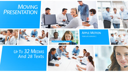 Moving Presentation - Apple Motion and Final Cut Pro X Template 애플 모션 템플릿