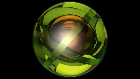 green orbits ball Animation