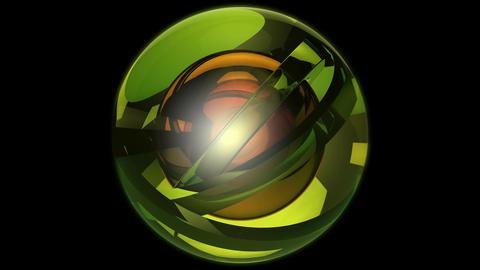 green orbits ball Stock Video Footage