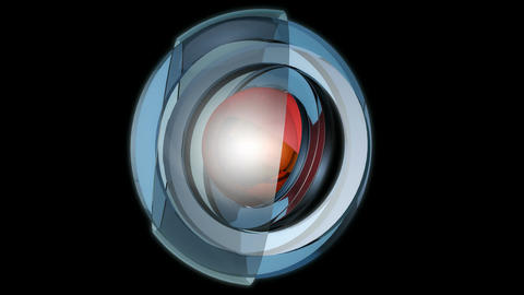 spherical glossy spin Stock Video Footage