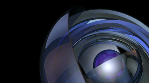 futuristic glossy sphere Stock Video Footage