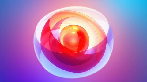 sphere shell orbits Stock Video Footage