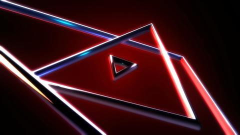 triangle metal spotligts Stock Video Footage