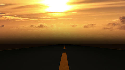 Road Sunset 01 Stock Video Footage