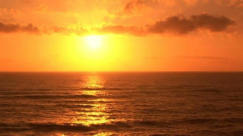 Coastline Sunset Stock Video Footage