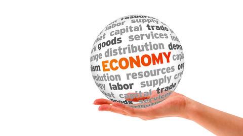 Economy Word Sphere Stock Video Footage