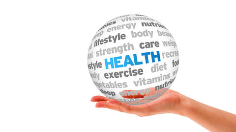 Health Word Sphere Stock Video Footage