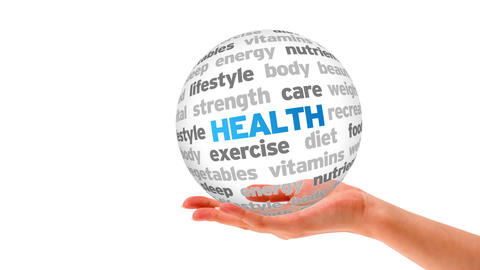 Health Word Sphere Animation