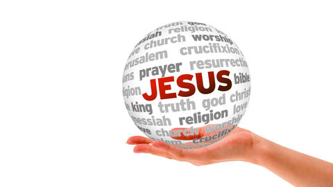 Jesus word Sphere Animation